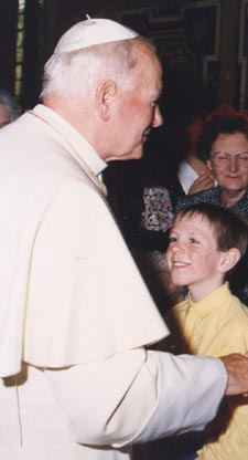 John Paul II and a very young me